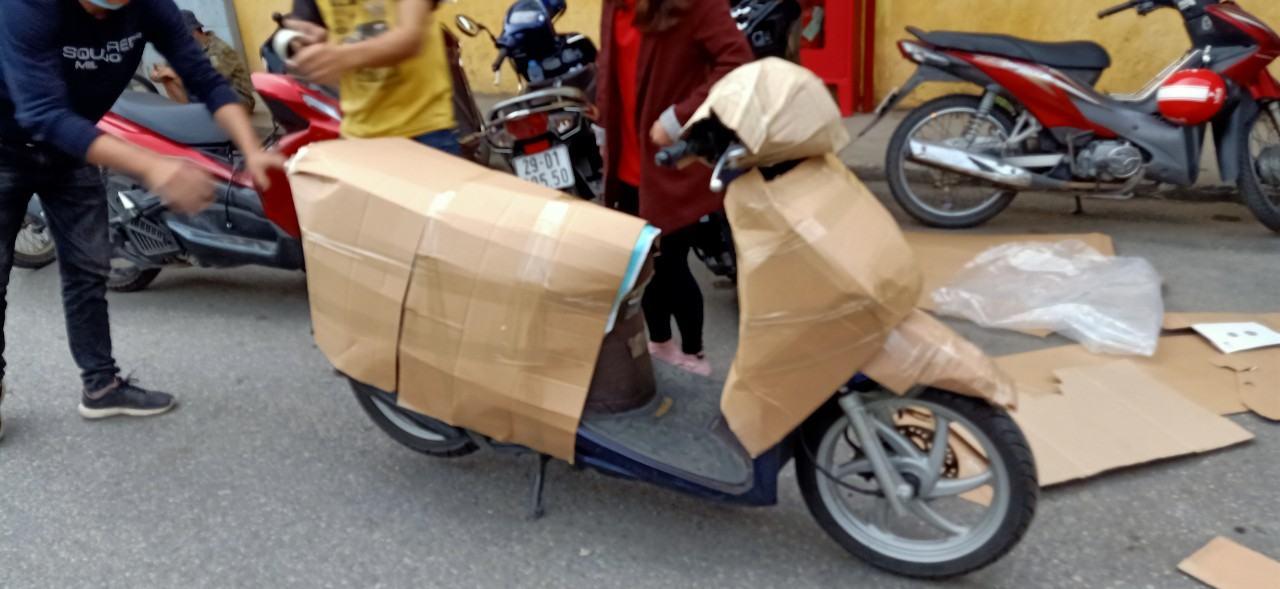 Vận chuyển xe máy bằng xe tải